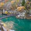 吊り橋が掛かる断崖の渓谷美「塔のへつり」に会津線に乗って行ってきました!