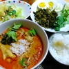 【今日の食卓】カオソーイ・ライス。タイ北部のカレーに麺ではなく、ご飯を入れてみた結果…味が強いから余計そう思うのかも。 Khao Soi & rice without noodle. Now I know noodle is better. :D  #タイ料理 #カオソーイ #ラーメン