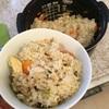 うどんスープで炊き込みご飯と、パルシステムの炊き込みご飯の素。