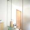 洗面所の三面鏡収納 (正面中央)