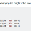 Boostrap4 の Navbar の開閉速度を変更してみる。