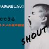 【自宅で大声が出したい人用】自宅でできるオススメの発声練習ー自宅で大声を出すための3つの方法ー