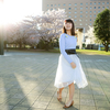Lovelyな女性の桜ポートレート(横浜みなとみらい):せなさん Lovely Portrait Photos of  Charming Japanese