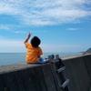 14日め-1 海を見ながらボーッとするヽ(^o^)丿