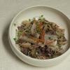 根菜とミンチの重ね煮