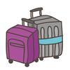 夫じゃなくて、スーツケースが帰ってこないよっ