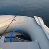 ゴムボートでキス釣り(大村湾)