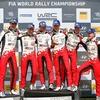 """● WRCドイツ:「残り4戦、もっと""""最高の光景""""を…」、豊田章男総代表が歴史的勝利を掴んだチームを祝福!"""