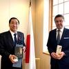 在京カザフスタン大使の表敬訪問を受ける