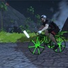 ハロウィンに骨骨な自転車で骨抜き