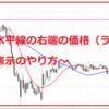 MT4で水平線の右端の価格(ラベル?)が表示されなくなった時【表示と非表示のやり方】