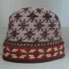 残った毛糸で「編み込みの帽子」を編む
