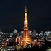 病院の窓から見える東京タワー