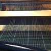 手織り作品・グレンチェックのカシミアマフラー