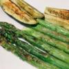 魚焼きグリルで野菜を焼いた