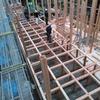 新築アパート 建前始まる 木造在来工法
