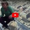 シカゴの高層ビル ウィリスタワーのガラスの展望デッキ