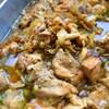 鶏肉とひらたけの花椒蒸し