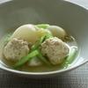 4冊目『有元葉子のひき肉料理』より鶏団子とかぶの煮物
