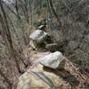 五助山から石切道へのハイキング(その1)五助山道取り付き調査