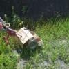 ふたつ目3つ目の耕起田んぼを除草機で削りました!汗だくで疲れました…(田植え後5週目)