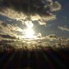 伊賀の夕陽