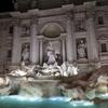 夜景がキレイなトレビの泉☆☆パンテオン 、ナボーナ広場、スペイン広場、ローマの日本人宿etc
