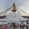 """ネパール最大のチベット仏教の巨大仏塔がみれる""""ボダナート""""へ"""