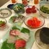 手巻き寿司と48ヶ月熟成ハモンイベリコ。