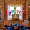 虹色の結婚式バルーン装飾