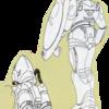 超時空騎兵団サザンクロス 宇宙基地守備隊の宇宙服の背部パック