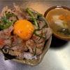 【THE親父めし  スタ丼 &  海鮮汁】妻に長男インフルエンザ?