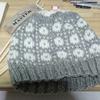 編み込み模様の帽子が完成