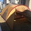 テント張りの練習しました。