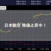 【お知らせ】日本航空の株価が3日間で17%も上昇中!!