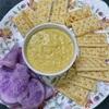 葱油&カレー風味のエッグディップ、から揚げ、長芋とおかひじきの山葵醤油和え