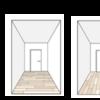 【知識】2つのフローリングの板目方向