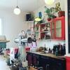 パリの一軒家カフェ