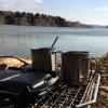キャンプで泊まり込みのサケ釣りに挑戦‼️