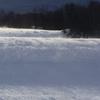 雪の海をゆく船