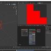 Blender2.8で[選択物->アクティブ]のベイクで色が混ざる場合の対処