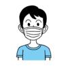 マスクをしている男性のイラスト