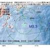 2017年08月03日 20時00分 房総半島南方沖でM3.3の地震