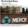 """飲み薬「モルヌピラビル」米緊急使用申請についての記事三つ(一部抜粋)を掲載します.緊急使用を許可すれば,新型コロナウイルスに対する飲むタイプの抗ウイルス薬としては世界で初めて実用化されるもの(NHK).  ▽60歳以上の人や,肥満,糖尿病,心臓病を持つ若い人が対象  ▽妊娠中のひとは服用できない.(New York Times)  レムデシビルと同様,ヌクレオシドアナログであり,RNAの構成要素の一部を模倣した薬剤. """"致死的変異誘発 """"によりウイルスを死滅させる(Nature)."""