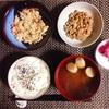 卯の花、小粒納豆、ヨーグルト。