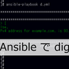 Ansible の標準lookup pluginの「dig」で名前解決する
