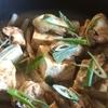 牡蠣とお豆腐の豆豉ジャン蒸し