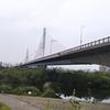 菅原城北大橋まで往復ジョグ