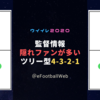 【根強い人気】ツリー型4-3-2-1 監督 4名