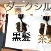 【カラーバター ダークシルバー】黒髪と茶髪に染め比べ